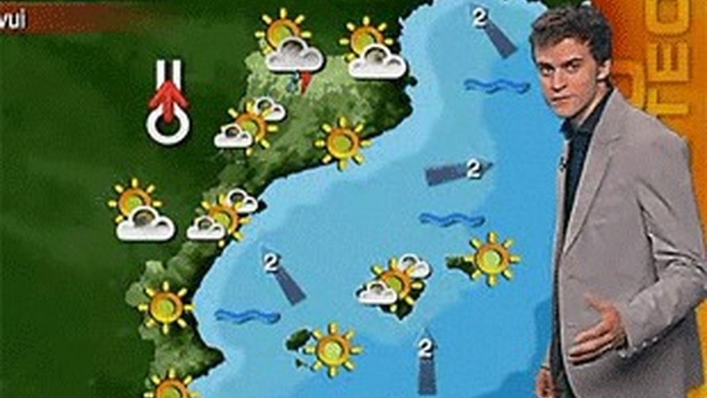 El actual mapa del tiempo de los 'Països Catalans' en TV3.