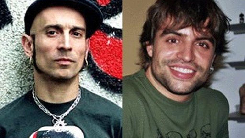 Fito Cabrales (izquierda), líder del grupo Fito & Fitipaldis, y Manu Guix.