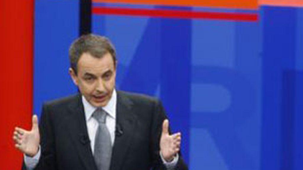 José Luis Rodríguez Zapatero, en la primera edición de 'Tengo una pregunta para usted'.
