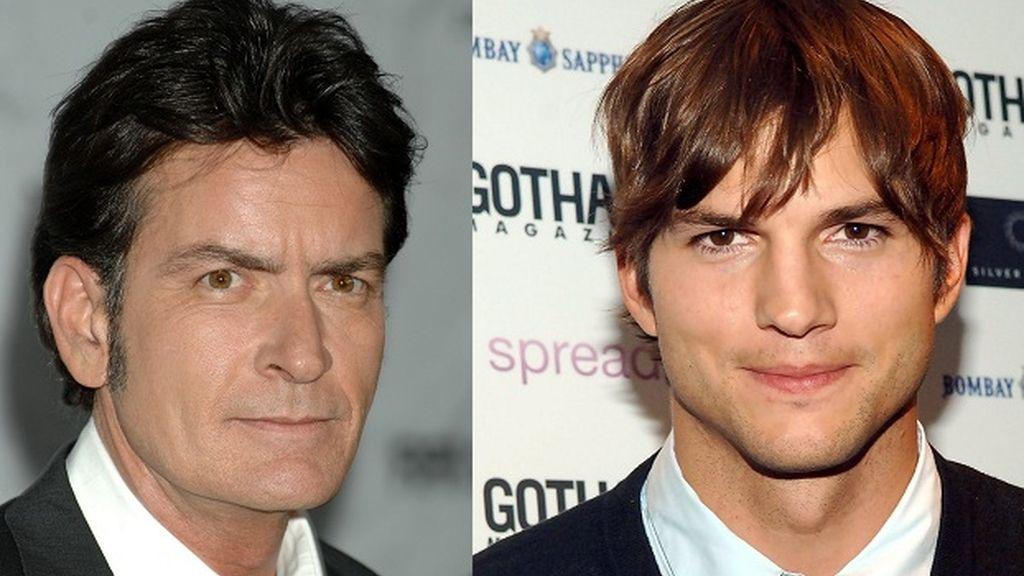 Montaje Sheen y Kutcher