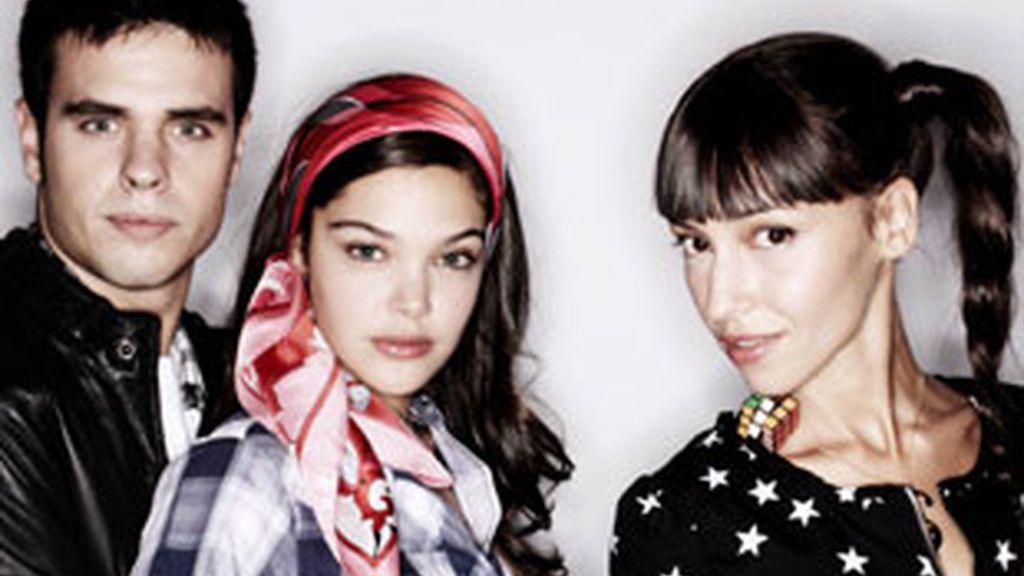 Carlos Martínez, Ana Rojas y Sara Velázquez, protagonistas de 'HKM'.