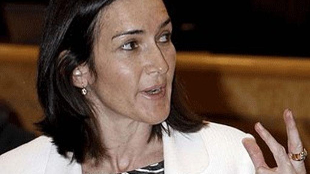 La ministra de cultura, Ángeles Gonzáles-Sinde.