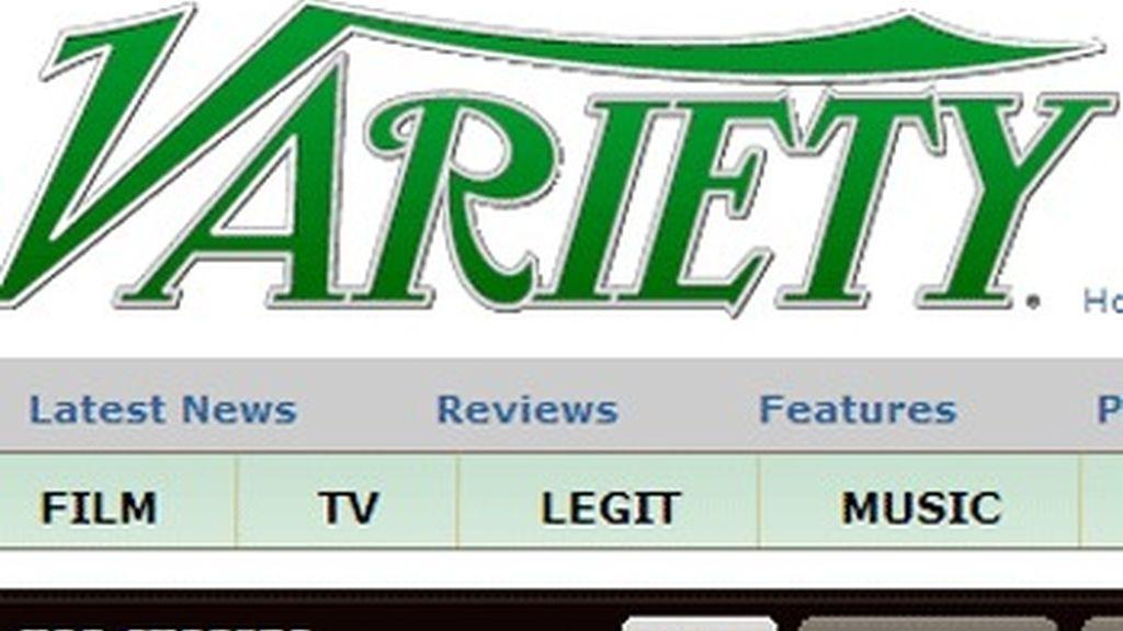 Cabecera de la web de la revista 'Variety'.