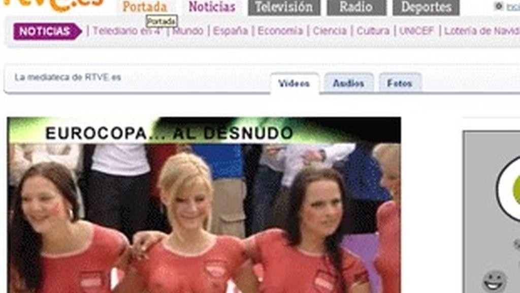 Reportaje 'La Eurocopa al desnudo' en la web de RTVE.