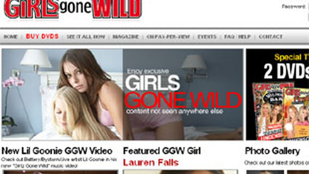 Página web de la revista 'Girls Gone Wild' ('Chicas salvajes')