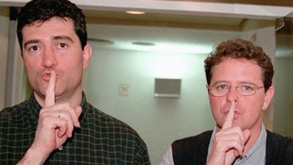Guillermo Fesser (izquierda) y Juan Luis Cano,  el dúo 'Gomaespuma'.