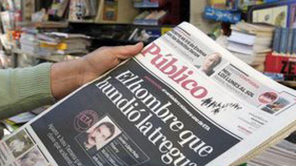 Imagen de la portada del diario 'Público'.
