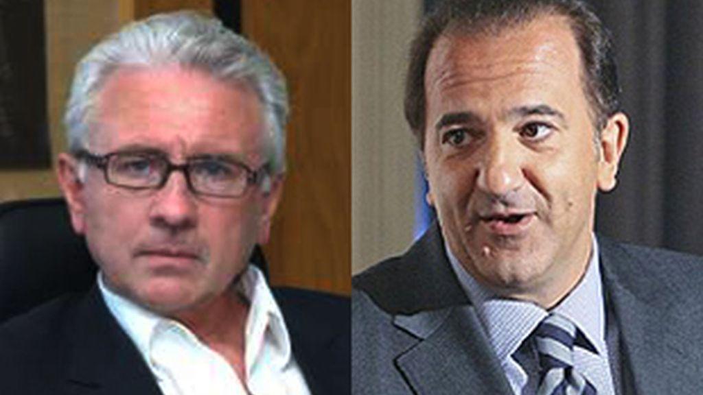 De izq. a der.: el director general de Cuatro, Daniel Gavela, y el consejero delegado de La Sexta, José Miguel Contreras.