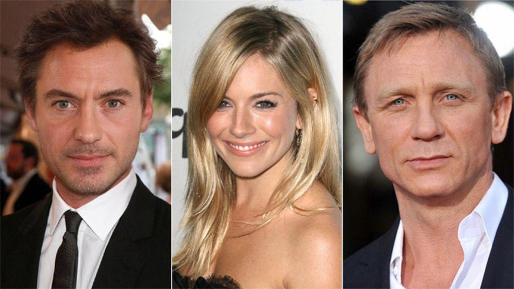 Jude Law, Sienna Miller & Daniel Craig