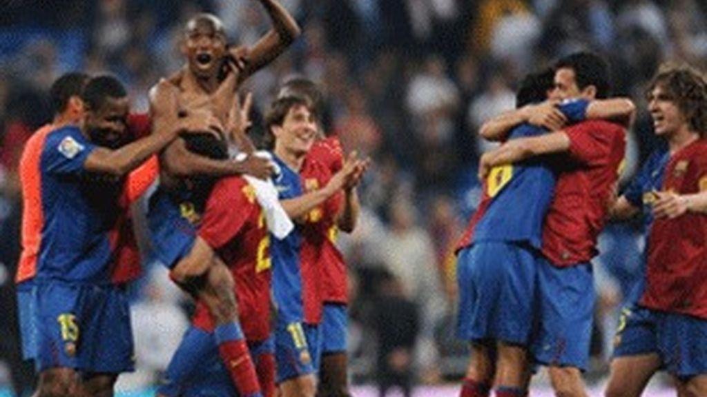 Jugadores del Barça, la pasada Liga.