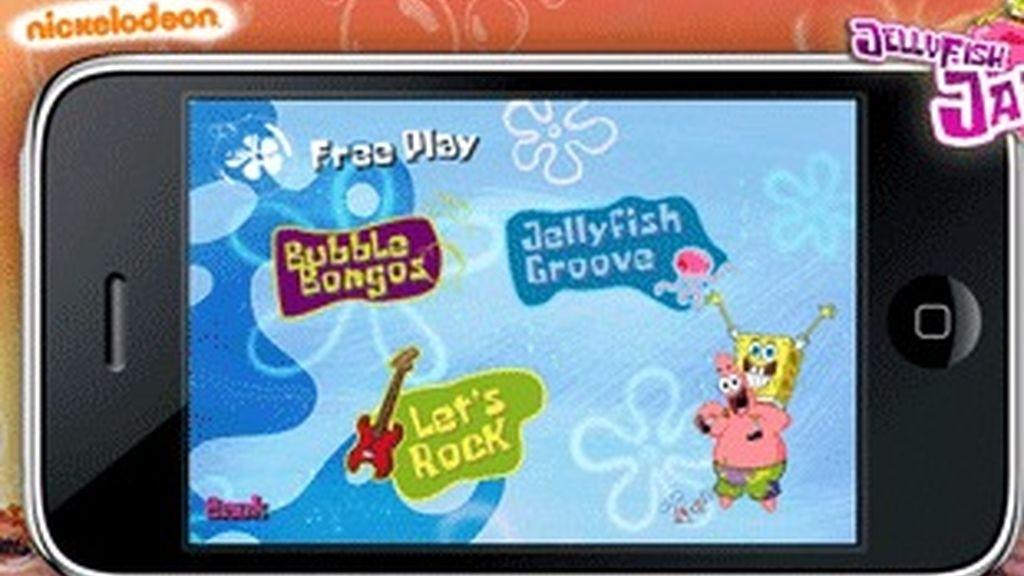 'Demo' de los juegos de 'Bob esponja' para iPhone.