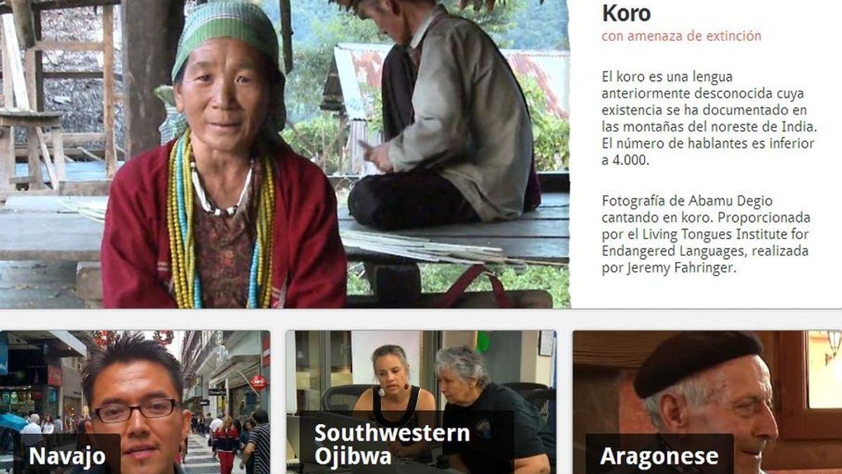 Proyecto idiomas peligro de extinción