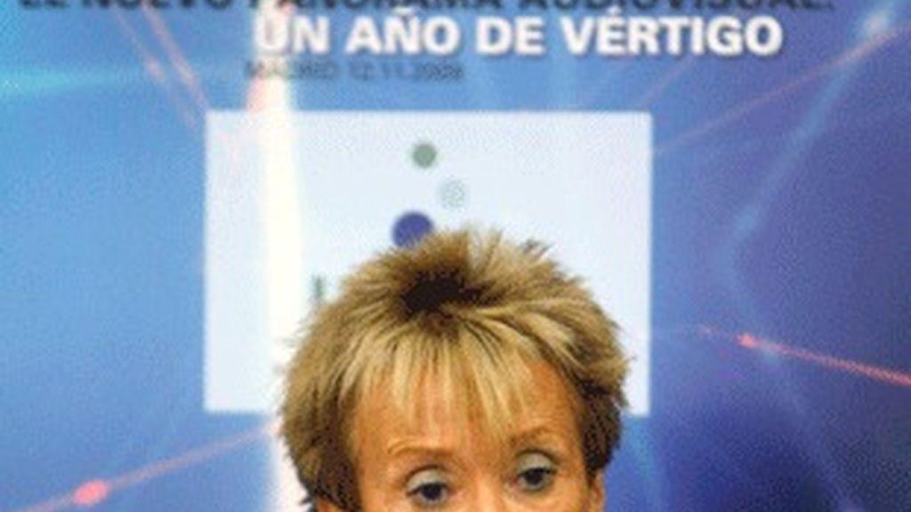 María Teresa Fernández de la Vega, en la jornada anual de UTECA.