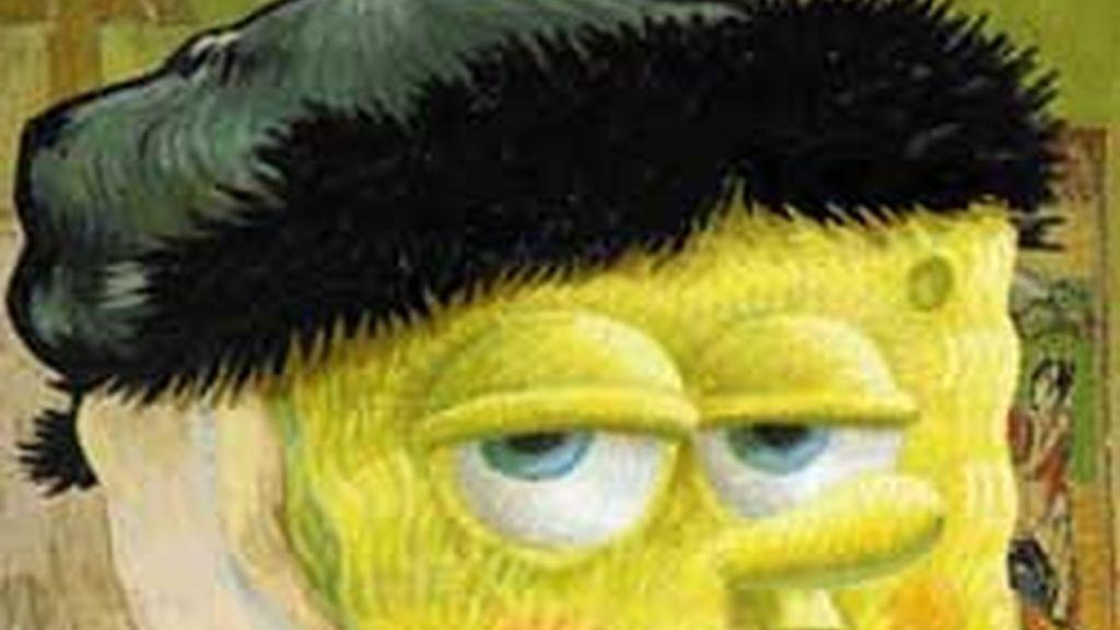 El personaje de dibujos animados Bob Esponja.