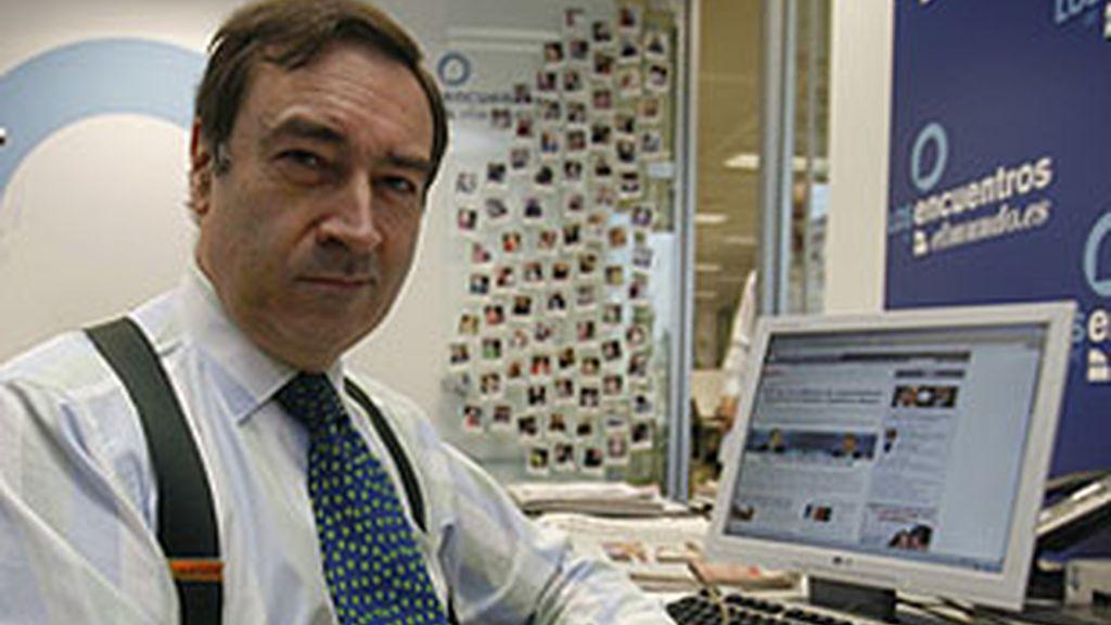 Pedro J Ramírez en la redacción de 'El Mundo'.