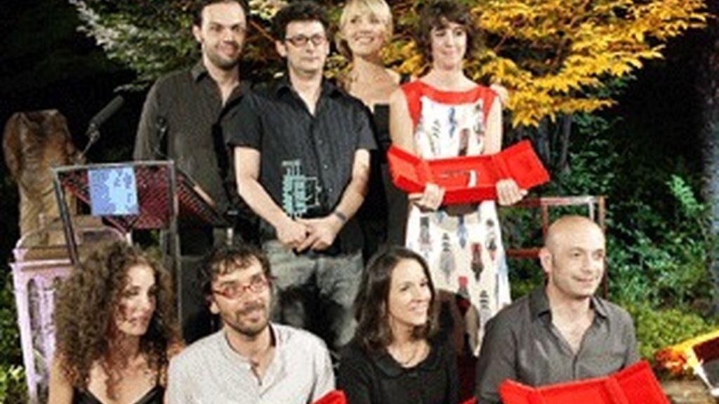 Los premiados del X Concurso de Cortometrajes 'Versión española'.