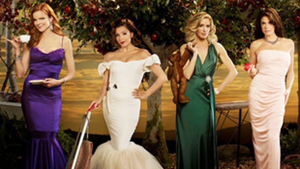 De izquierda a derecha, Marcia Cross, Eva Longoria, Felicity Huffman y Teri Hatcher, protagonistas de 'Mujeres desesperadas'.