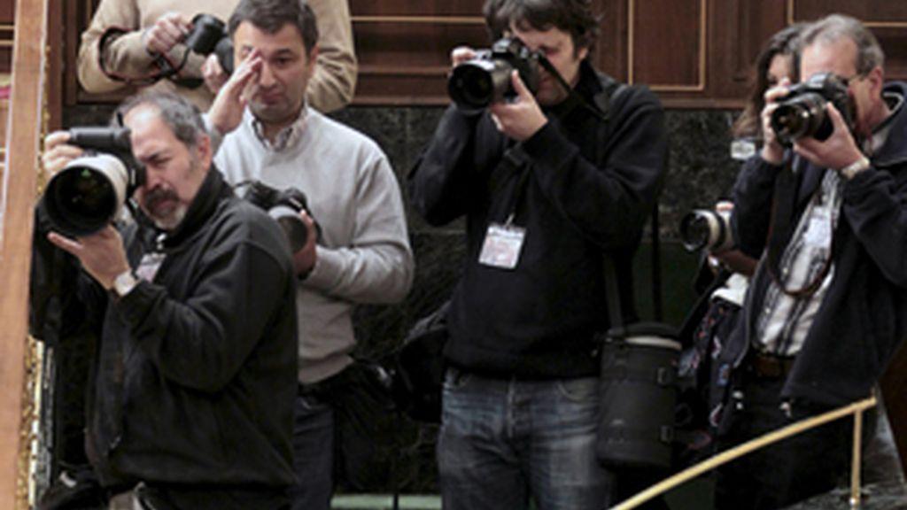 Los fotógrafos del Congreso, en su nueva ubicación.
