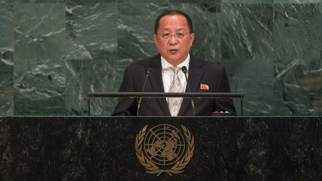 Ri Yong Ho, ministro de Asuntos Exteriores de Corea del Norte