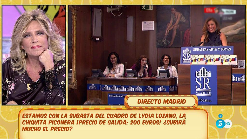 ¡Kiko Matamoros y Rafa Mora pujan por el cuadro de Lydia Lozano!