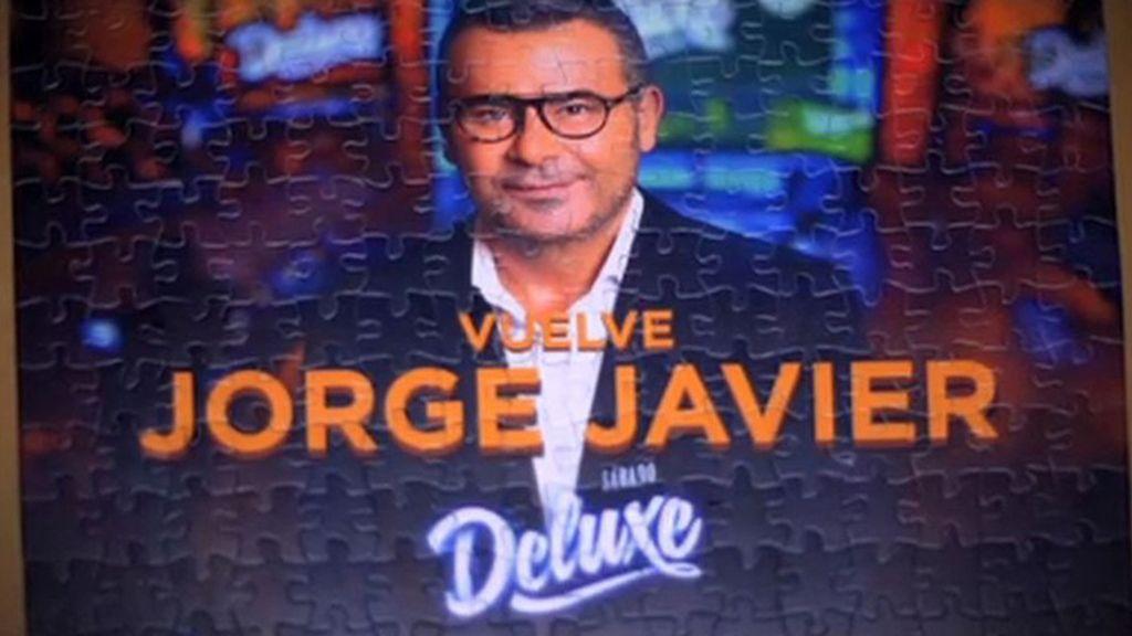 ¡Jorge Javier Vázquez vuelve este domingo a Sábado Deluxe!