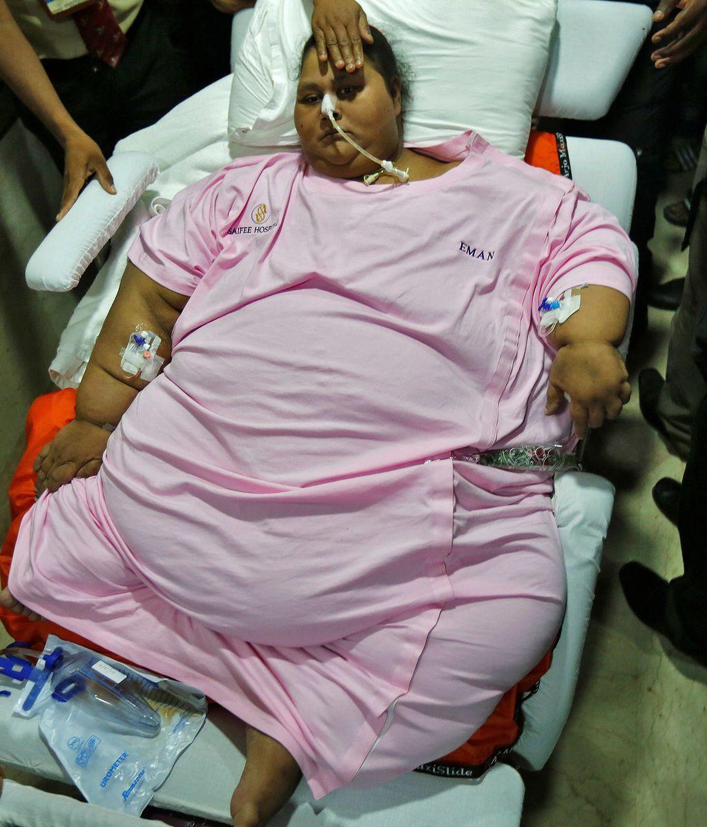 Muere Eman Ahmed, la mujer más gorda del mundo a los 37 años