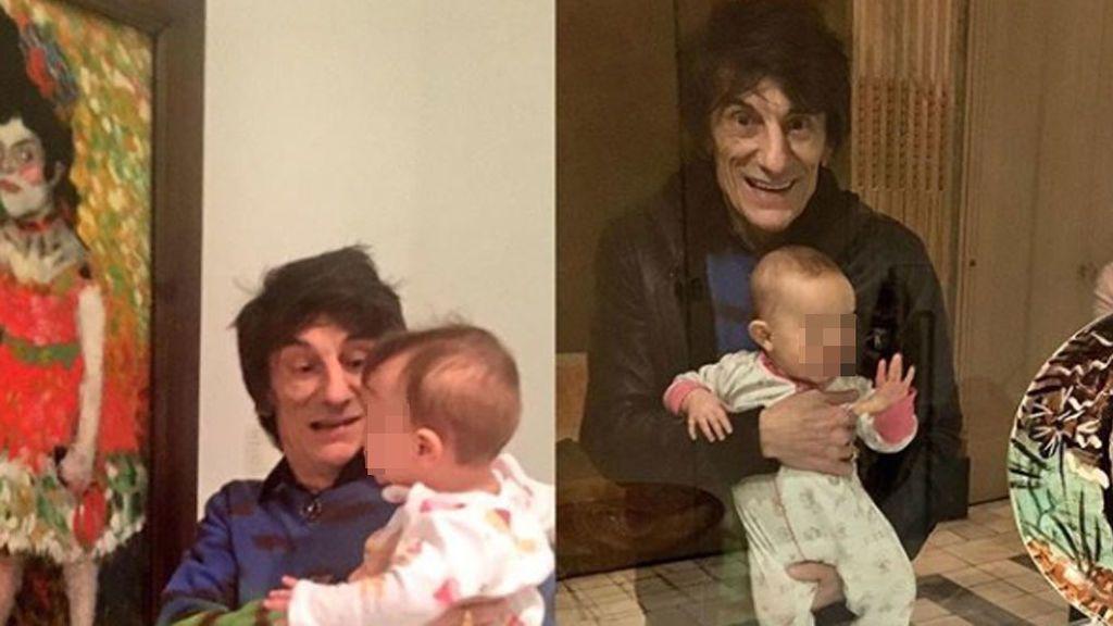 Ronie Wood, se lleva a sus gemelas de 15 meses al tour de los Rolling Stone
