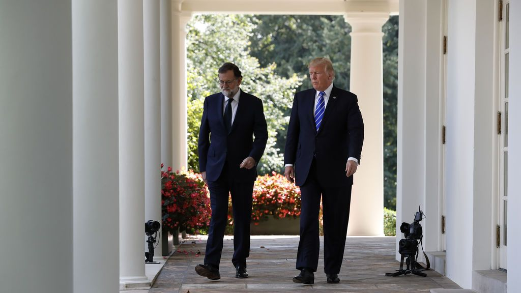 Mariano Rajoy se reúne con Donald Trump en la Casa Blanca