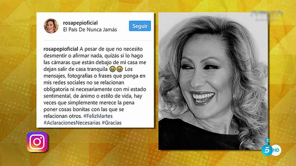 Enigmáticos mensajes en redes: ¿Tiene nuevo novio Rosa Benito?