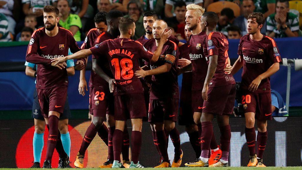 El Barcelona alarga su racha de resultados con un triunfo sin brillo ante el Sporting