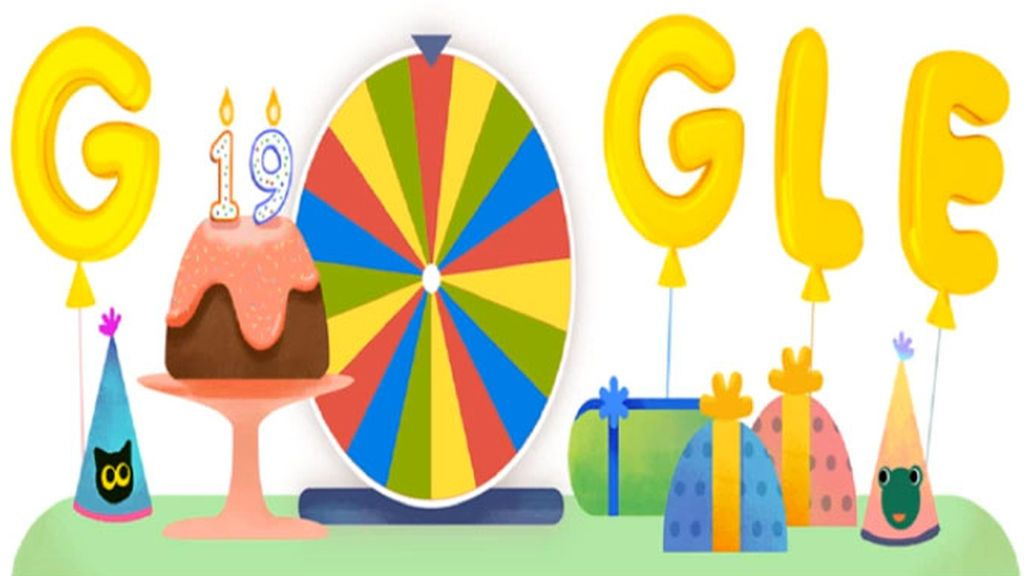 El doodle de Google por su cumpleaños 19, mucha historia y una rueda de la fortuna