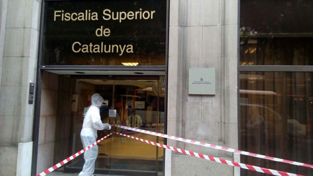 """Arran precinta simbólicamente la Fiscalía de Cataluña por """"una plaga de fascismo"""""""