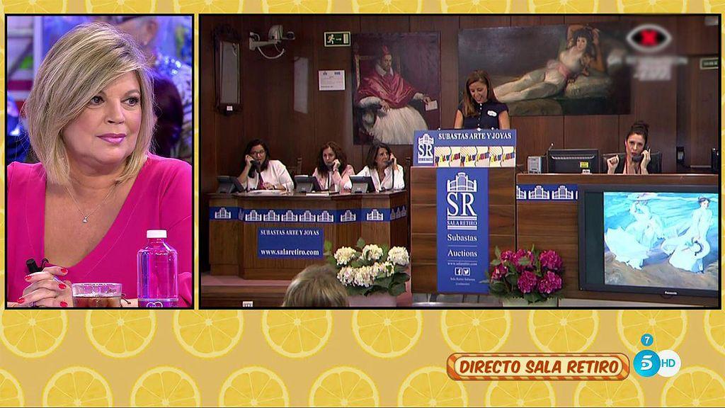 El cuadro de Terelu Campos consigue 1.700 euros para la lucha contra el cáncer de mama