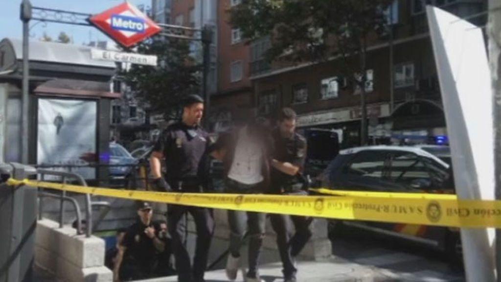 Momentos de pánico en el metro de Madrid tras un tiroteo