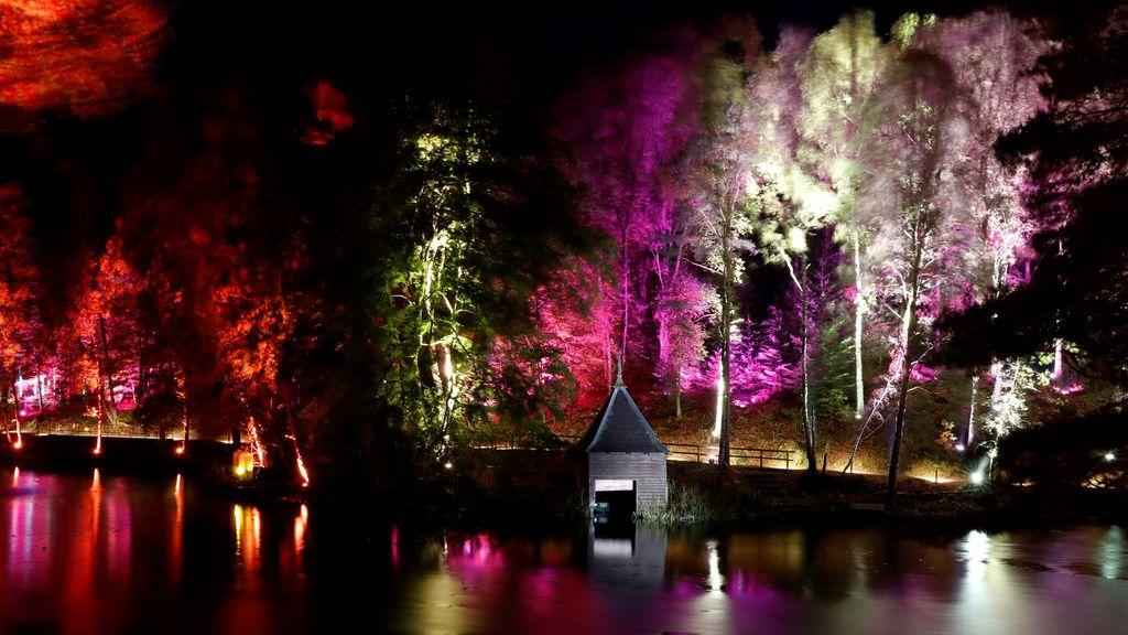 Espectáculo lumínico en Escocia