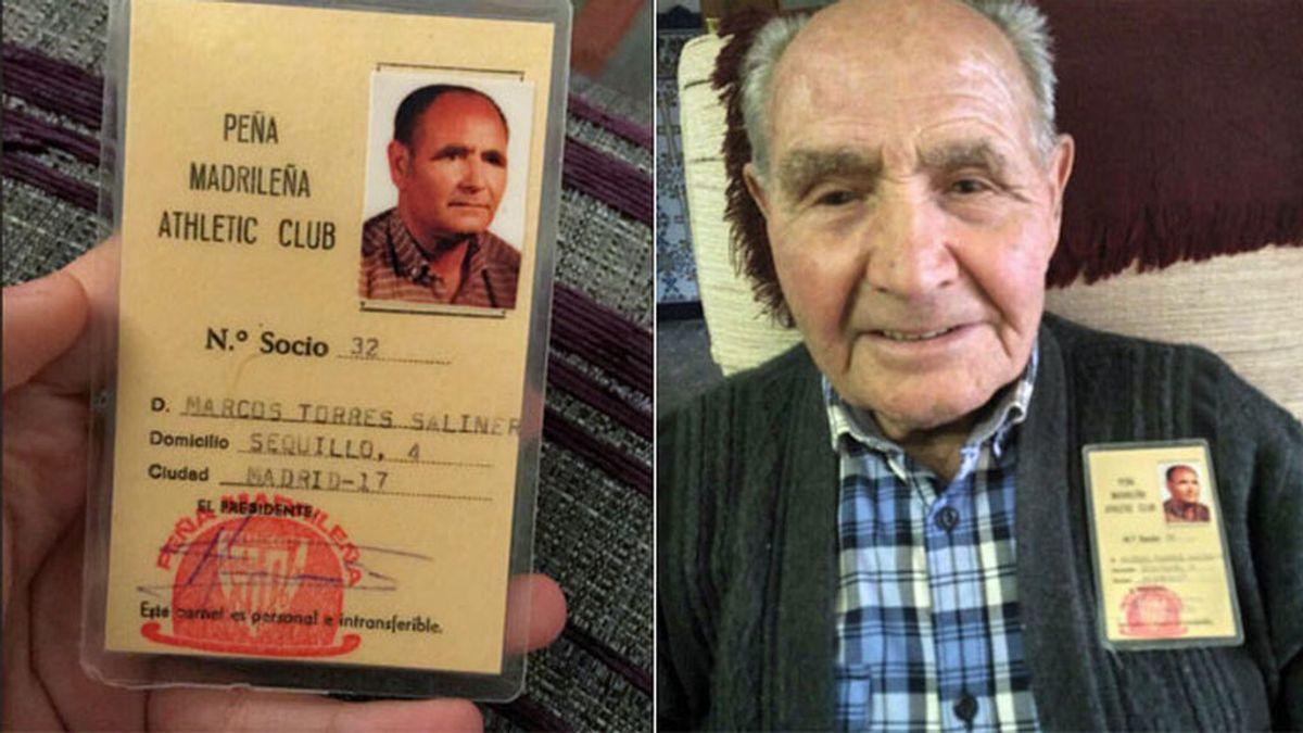 Pide ayuda para que su abuelo toledano de 90 años, socio del Athletic desde niño, cumpla su sueño en San Mamés