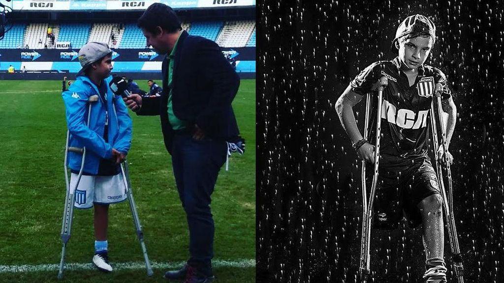 El heroico gol de un niño sin una pierna, con muletas, que conmueve a toda Argentina