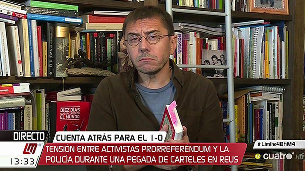 """Juan Carlos Monedero, sobre Cataluña: """"Se ha roto el contrato social"""""""