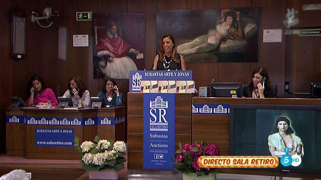 El retrato de Paz Padilla a la manera de 'Galarina' consigue 1.100 euros en la subasta