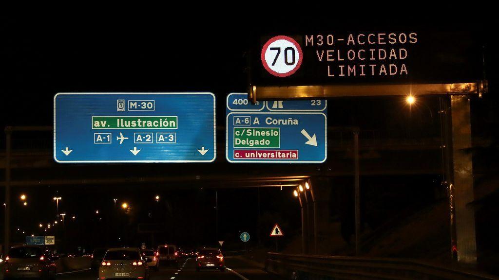 Madrid limita la velocidad por contaminación en accesos