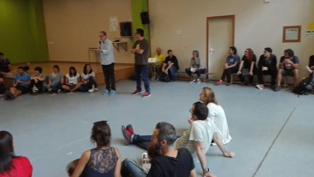 Encierros en colegios catalanes por el 1-0: asamblea en el CEIP Jaume I de Barcelona