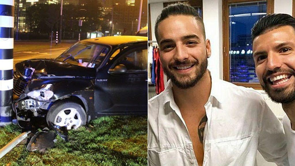 Kun Agüero sufre un grave accidente de tráfico tras acudir a un concierto de Maluma