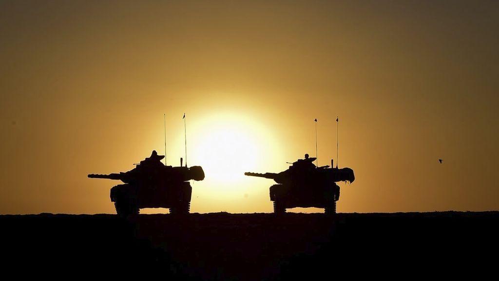 Ejército turco durante un ejercicio militar cerca de la frontera entre Turquía e Irak