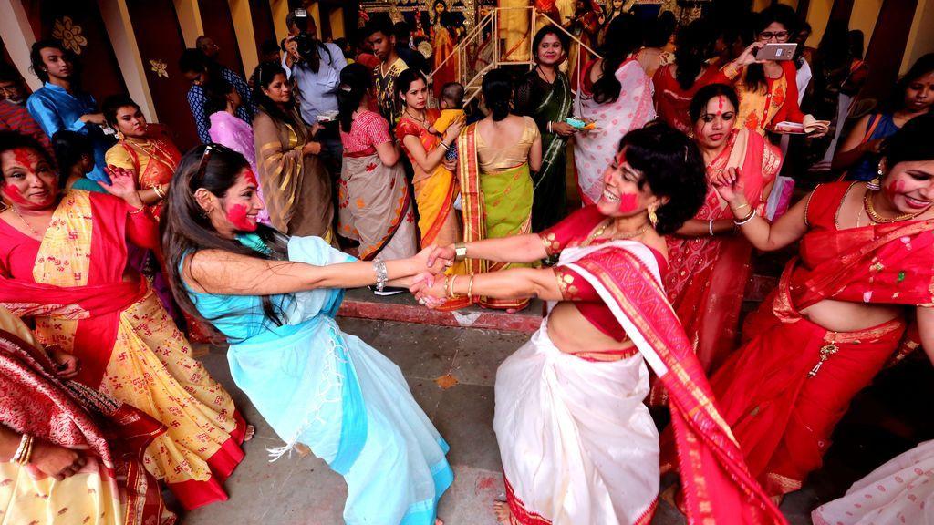Festival Durga Puja en Bhopal, India