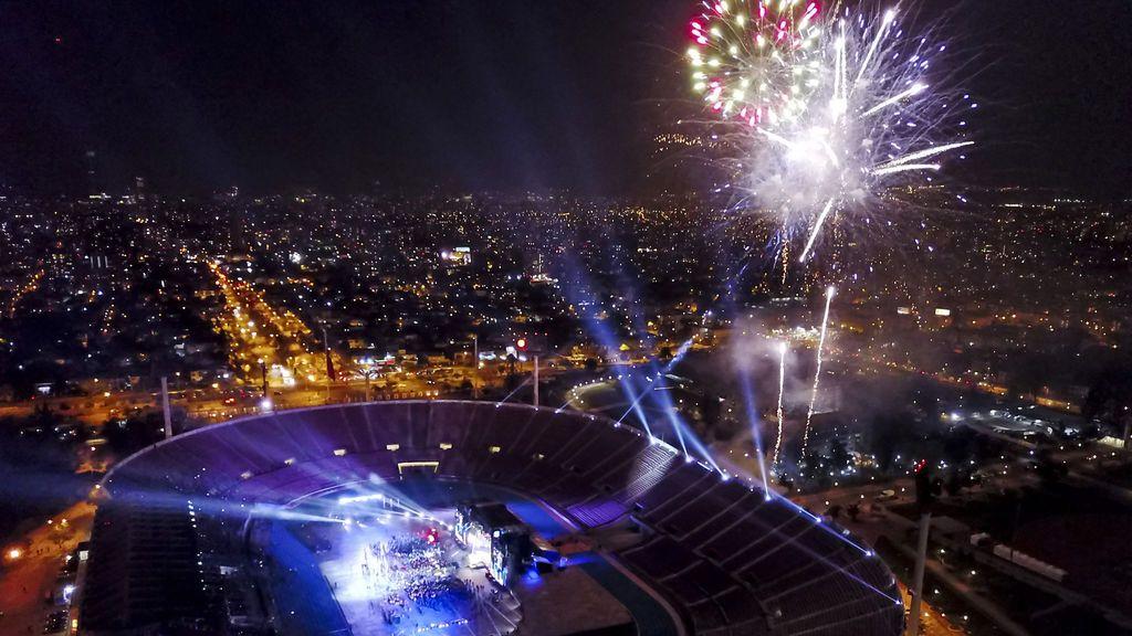 Inauguración de los II Juegos Sudamericanos de la Juventud en Chile