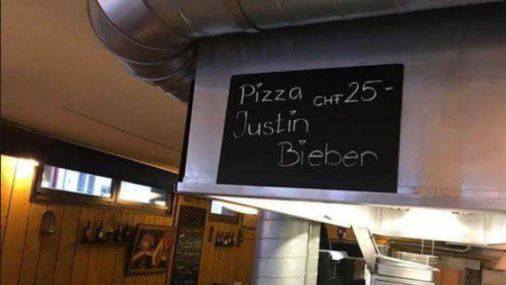 Resultado de imagen de pizza justin bieber suiza