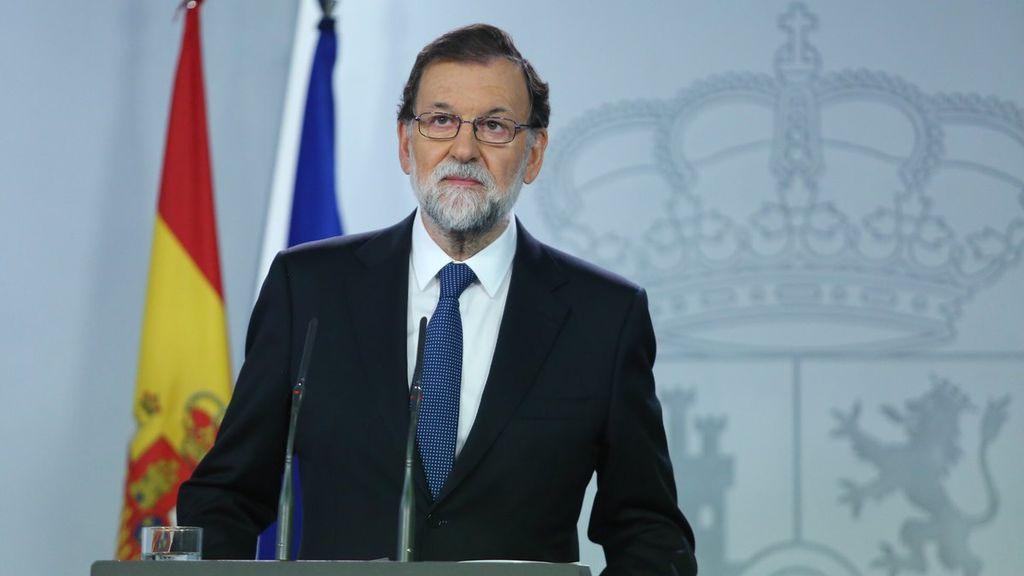 """Mariano Rajoy: """"Hemos actuado con la Ley y solo con la Ley"""""""