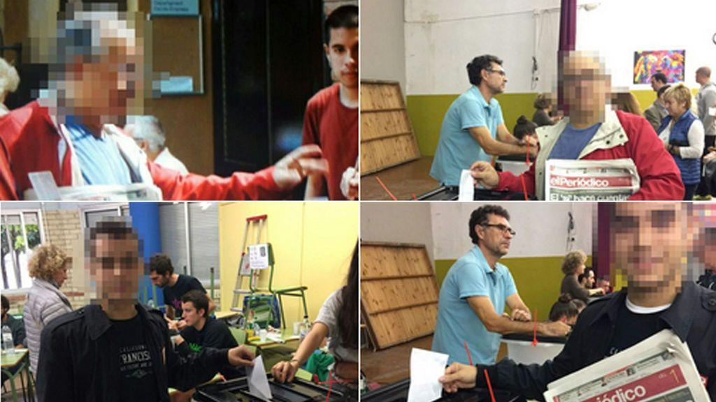 Sociedad Civil Catalana publica imágenes de ciudadanos votando varias veces en colegios distintos