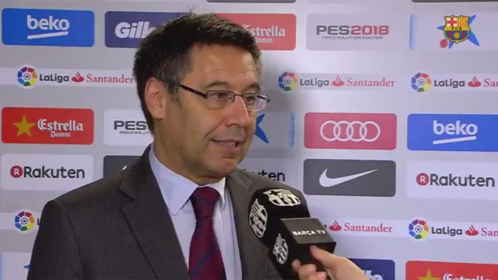 """Bartomeu: """"El estadio vacío denuncia la falta de libertades que está sufriendo Cataluña"""""""