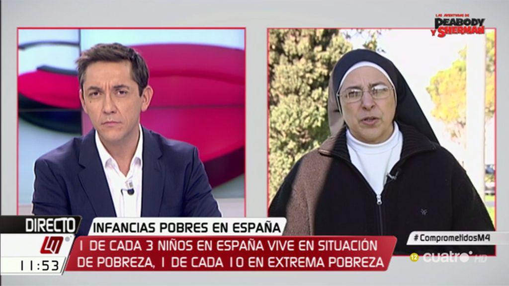 """Sor Lucía, comprometida: """"En España, la pobreza tiene rostro de niño"""""""